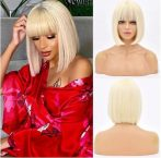 1, dekorativ, elegant blonde Perücken